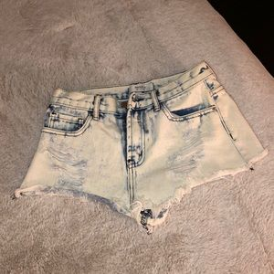 Forever 21 Acid Wash High Waisted Jeans 25